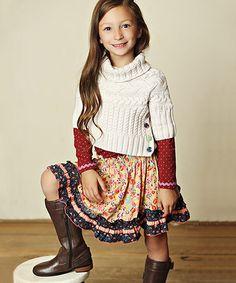 Yellow & Violet Ashton Skirt - Toddler & Girls #zulily #zulilyfinds