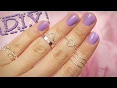 DIY Knöchelringe aus Draht, Knuckle Rings - geometrische Muster - Sommertrend - YouTube