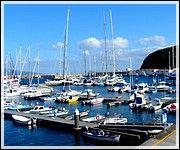 Açores, Un fascinant paradis naturel - par Dominique Krauskopf, Voyager Pratique | A 1 500 km au large de Lisbonne, l'archipel des Açores aux nuances vertes, bleues ou noires se révèle un bijou de la nature intact et émerveille les visiteurs. En plein océan Atlantique émergent les Açores composées de trois groupes d'îles d'origine volcanique. Il y a le groupe central, constitué par les îles de Terceira, Graciosa, Faial, São Jorge et Pico... Photo: Horta_marina