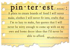What's the definition of Pinterest?