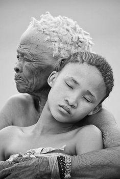 Embrace - Sadness - Love - Black and White - Photography - Portrait