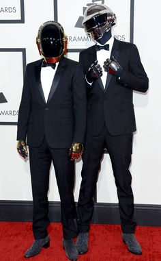 Are there robots at the VIP Party you are at with your #RockStar…no its just Daft Punk. #LandingMrRight