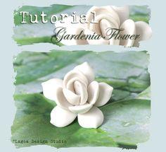 6463afc8d TUTORIAL Polymer Clay Gardenia Focal Bead Hand Sculpted Lifelike Flowers  PDF eBook