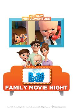 Enjoy a Family Movie Night with The Boss Baby, available now on Digital HD.