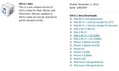 Apple Releases iOS 6.1 Beta For Developers