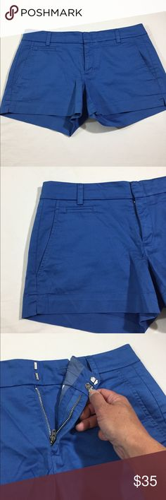 VINCE stretch electric blue chino shorts VINCE stretch electric blue chino shorts great preloved condition Vince Shorts