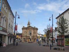 Town Hall & The Diamond, Coleraine, Co Londonderry, Northern Ireland.