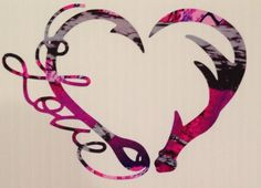 Details about love antler fishing hook heart decal camo girl hu Camo Truck, Pink Truck, Camo Wallpaper, Heart Wallpaper, Car Accessories For Girls, Truck Accessories, Browning Tattoo, Browning Deer, Country Girl Tattoos
