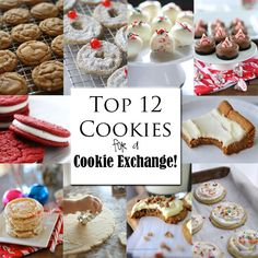 Top 12 Cookies for a Cookie Exchange! - Top 12 Cookies for a Cookie Exchange! Top 12 Cookies for a Cookie Exchange! Cookie Desserts, Holiday Desserts, Holiday Baking, Holiday Treats, Just Desserts, Holiday Recipes, Cookie Recipes, Christmas Recipes, Cookie Cups