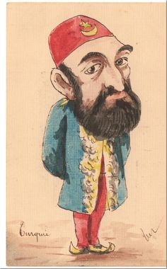 Turkey: Abdul Hamid II (r. 1876-1909), 34th Sultan of the Ottoman Empire, represented in a French cartoon, early 20th century