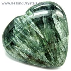 ∆ Seraphinite...clears blockages in the chakras and enhances the aura, and it can have beneficial effects for both the wearer and the person nearby. Seraphinite also makes a great crystal to keep in the home, office, or even the car, where it can emit its protective, angelic energies out into the environment.