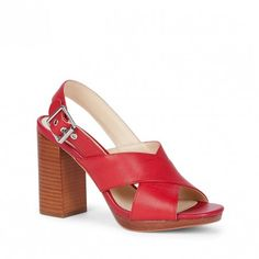 Red Slingback Sandal   Jeanne   Free Shipping on Orders $50+