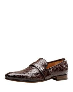 Faramir Crocodile Loafer, Brown by Gucci at Neiman Marcus.