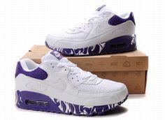 Nike Air Max 90 Vrouwen Wit Purper