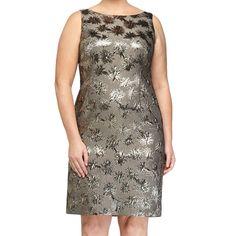 Marina Rinaldi Women's Dublino Shimmer Sheath Dress 12W / 21 Multicolor. Matching fabric for long sleeve option included.
