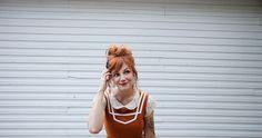 pumpkin dress by Skunkboy Creatures. katie is the absolute cutest.