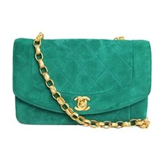 Chanel Green Suede Bag