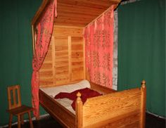 replica of a medieval bed