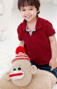 Red Heart's Sock Monkey Pillow (s)