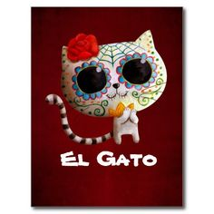 Cat of Day of The Dead Post Card you will get best price offer lowest prices or diccount couponeDeals          	Cat of Day of The Dead Post Card Online Secure Check out Quick and Easy...