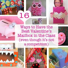 16 Ways to Have the Best Valentine's Mailbox Holder in the Classroom (even though it's not a competition) howdoesshe.com