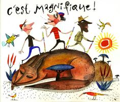 piet grobler Children's Book Illustration, Watercolor Illustration, Illustrations, South African Artists, Child And Child, Freelance Illustrator, Childrens Books, Rooster, Whimsical