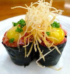 Wagyu Gunkan Sushi.