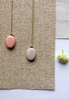 enameled locket necklace