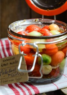 Distinctive Gifts Mean Long Lasting Recollections Easy Pickled Tomatoes Pickled Tomatoes, Dried Tomatoes, Cherry Tomatoes, Pickled Cherries, Canning Pickles, Pots, Refrigerator Pickles, Pickling Cucumbers, Pickle Relish