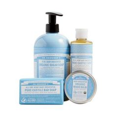 Bronner's Baby Unscented Gift Set – Thrive Market Baby Safe Paint, New Baby Products, Pure Products, Organic Baby Products, Sugar Soap, Pure Castile Soap, Safe Cleaning Products, Cleaning Solutions, Baby Soap