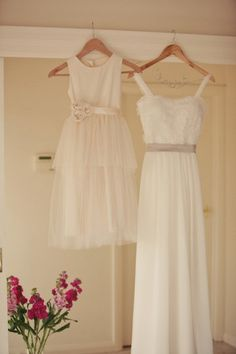 Vintage style Flower Girl Dress  natural Organic by OliveandFern, $109.00