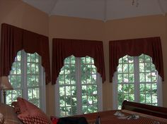 Beautiful Bedroom Valance in my friend's house