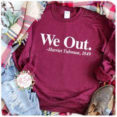 WE OUT  Harriet Tubman UNISEX Sweatshirt Heavy blend Cotton - MAROON / WHITE / 2XL