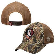 low priced f38c8 a207a Men s Top of the World Mossy Oak Camo Florida State Seminoles Blades  Trucker Adjustable Hat