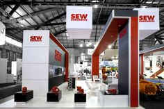 SEW exhibition stand designed and constructed by Expocentric. www.expocentric.com.au