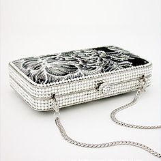 Letty Black and White Crystal Minaudière ♥ ♥ ♥