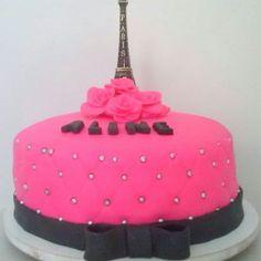 Bolo Paris de pasta americana: #bolosdecorados  #aniversario #festa #festaadulto #confeitaria #bolodeparis #paris Bolo Paris, Pasta, Birthday Cake, 30, Desserts, Food, Birthday Cakes, Decorating Cakes, Good Ideas