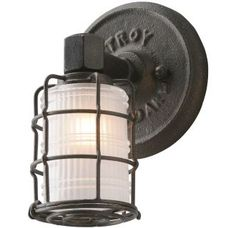 View the Troy Lighting B3841 Mercantile 1 Light Bathroom Sconce with Frosted Glass at Build.com.
