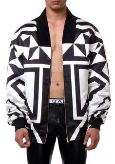 bomber stripes detail men style fashion man front