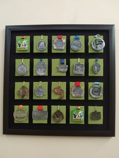 Trophies And Medals, Medal Displays, Olympic Medals, Gym Decor, Special Olympics, Display Cases, Diy Headband, Taekwondo, Runners