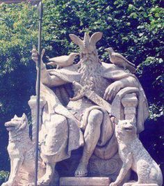 Wotan Denkmal in Hannover, Germany/ sure hope the muslims as they continue their takeover, don't destroy this like they did the sculptures of the Buddha in other countries Norse Pagan, Norse Mythology, German Mythology, Pagan Gods, Nordic Vikings, Germanic Tribes, Asatru, Viking Art, Folk