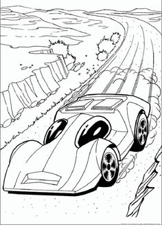 Awesome Hot Wheels 1966 Batmobile coloring page ready to download