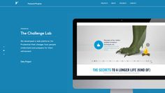 Use All Five digital agency website, bright colors, Parallax scrolling