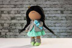 Doll Kimi. Tilda doll. Textile doll. Soft toy. Cute by OwlsUa