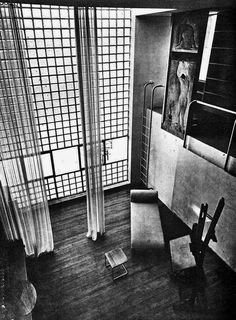Giuseppe Terragni - House for an artists, Milan 1933 - Source www.oldarchitecture.com