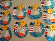 Best ocean art for kids crafts 31 ideas Boat Crafts, Ocean Crafts, Camping Crafts, Summer Crafts For Kids, Summer Art, Art For Kids, Summer Ideas, Sailboat Craft, Boat Craft Kids