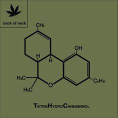 T-Shirts, Apparel & Miscellaneous Scientifica by MsAntimatter - Marijuana THC Molecule T-Shirt - Marijuana Art, Cannabis, Chemistry Tattoo, Chemistry Art, Social Media Art, Sketch Tattoo Design, Chemical Formula, E Mc2, Chemistry