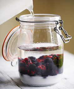 This sloe gin recipe takes just ten minutes to prepare and anything up to three months to infuse. Serve the sloe gin with ice or add tonic for a long drink.