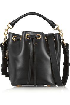 SAINT LAURENT Emmanuelle small leather bucket bag