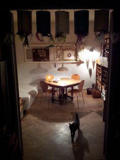 Atelier with cat Corner Desk, Workshop, Dining Table, Cat, Space, Furniture, Home Decor, Atelier, Corner Table